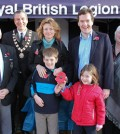 George Osborne with the Royal British Legion in Knutsford