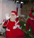 Father christmas and Tatton Park elf