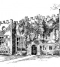 Old Hall line drawing
