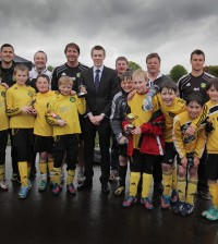 U11 Winners Egerton Classic Trophy Presented by Aldi Area Manager Stuart Parks