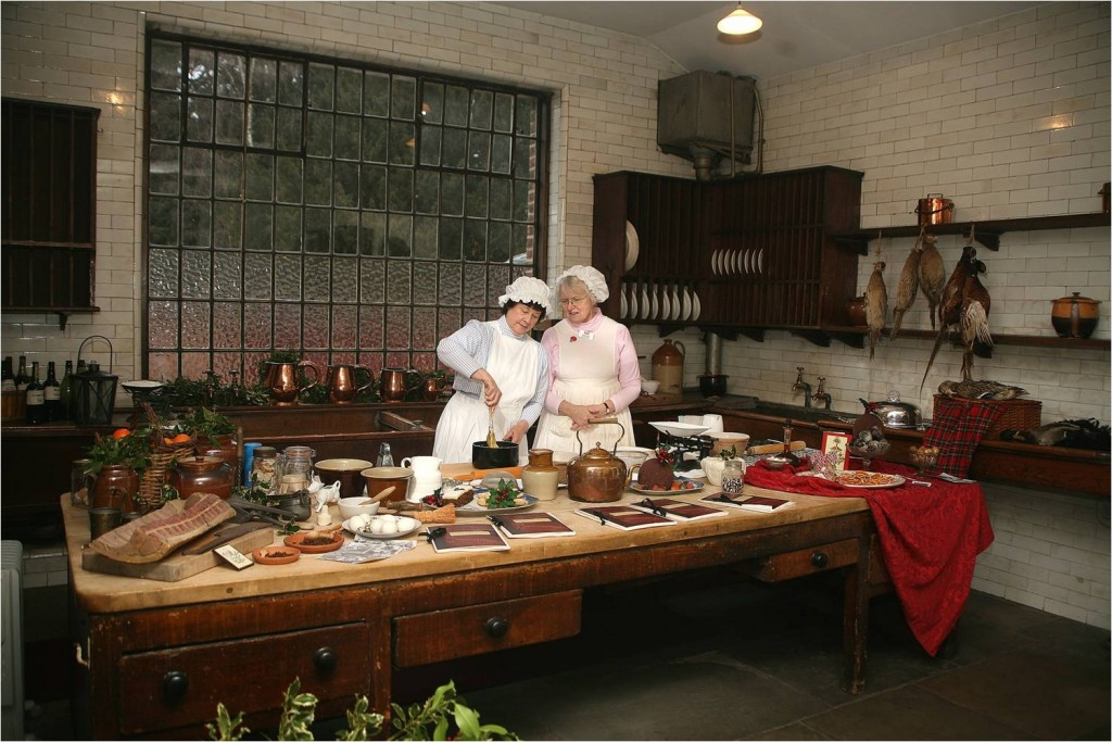 Christmas Cooking in Tatton mansion's scullery